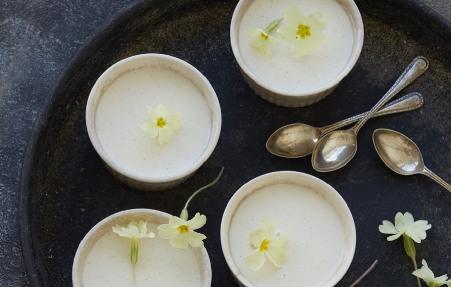 Buttermilk Pots with Primroses