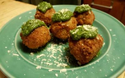 Tim Slater's Arancini and Greenhouse Pesto